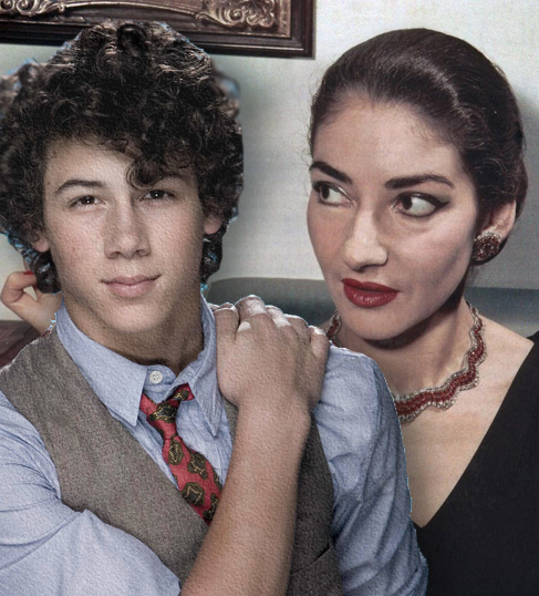 Nick Jonas and Maria Callas