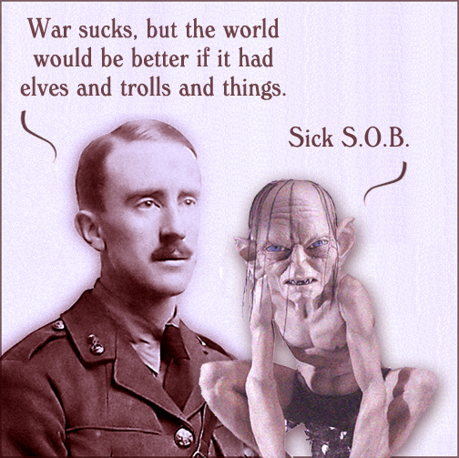 J.R.R. Tolkien and Gollum