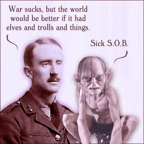 J.R.R. Tolkien and Gollum