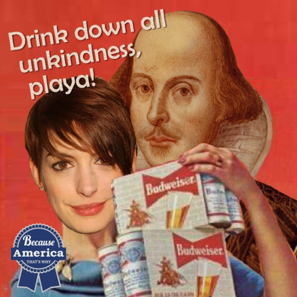 Anne Hathaway and William Shakespeare.